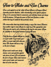 HOW TO MAKE & USE CHARMS, Book of Shadows Spell Page, Wicca, Witchcraft, BOS
