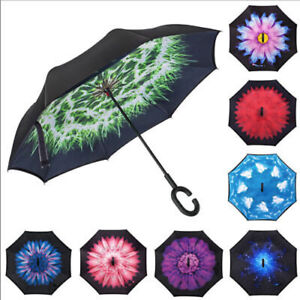 50+ Anti UV Sun Rain Umbrella 3 Folding Parasol Encounter Water Show Flower UD8E
