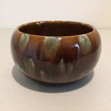 Vintage Brown and Blue Glazed Bowl Signed on the Base. 8 x 15 x 15cm # 604