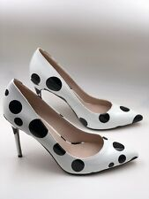 Polka Dots High Heels Pointed Toes Women's Shoes 8