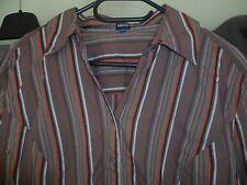 Bluse von Cecil Gr. XXL taupe braun gestreift Stretch 3/4 Arm -Neuwertig 1mal ge