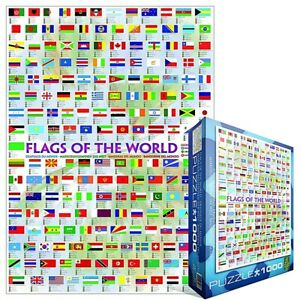 Flags Of The World 1000 piece jigsaw puzzle 680mm x 490mm (pz)