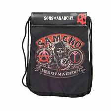 Sons of Anarchy Drawstring Gym Sack Bag Workout School Backsack Men of Mayhem