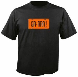 GR-RRR LICENSE PLATE, BLACK T SHIRT, gto grrrr pontiac 1964 65 66 67 68 69 judge