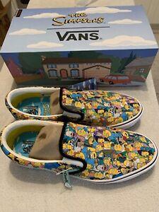 Vans The Simpsons Springfield Comfycush Slip On Shoes Men's Size 11 Full Box!