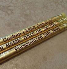 12 - Custom PERSONALIZED Regular Pencils - GOLD GLITZ