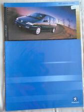 Peugeot 806 Special Models brochure Dec 2000