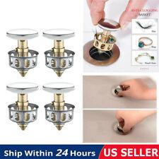 4Pcs Universal Wash Basin Bounce Drain Filter Pop Up Bathroom Sink Drain Plugs