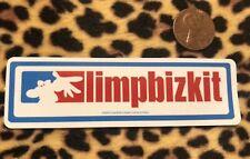 - Limp Bizkit Sticker - Nü Metal  - Slipknot Fred Durst Korn Mushroomhead Nookie