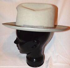 Vintage Resistol Felt Hat Cowboy Western Fedora Tan Sz 6 7/8 Self Conforming OH