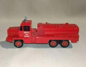 Vintage Solido Toner Gam Fire Truck Berliet GBC 34 Camiva Ville de Paris