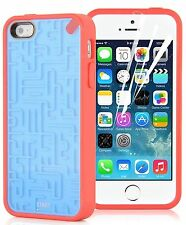 iPhone 5 Case - Retro Maze Game Back Cover for iPhone 5 / 5s / SE Blue & Red