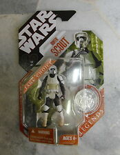 "NEW Hasbro Star Wars Saga Legends BIKER SCOUT with Coin 30th 3.75"" 2007"