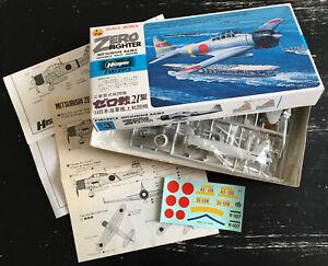 HASEGAWA 1/72 - MITSUBISHI A6M2 ZERO - JAPAN 1980 - NEUF