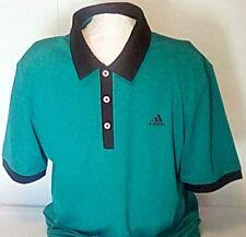 adidas Golf Pique Performance Shortsleeve Green Polo Shirt XL Men FREESHIP