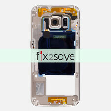 Gold Rear Middle Back Mid Frame Camera Lens Samsung Galaxy S6 Edge G925A G925T