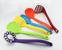 6Pcs Quality Plastic Kitchen Tool Cutlery Utensil Set Scoop Spoon Grill Shovel