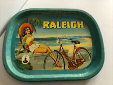 THE RALEIGH BICYCLE Metal Serving Tray Advertising 1950-1960 Nottingham England