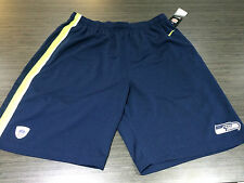 Seattle Seahawks Official On Field NFL Football Gym Shorts Epic Navy XL