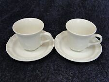 TWO Mikasa French Countryside Cups Tea Coffee Mugs Saucer Sets F9000 (Set of 2)