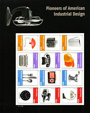 PIONEERS OF AMERICAN INDUSTRIAL DESIGN STAMP SHEET -- USA #4546A-L FOREVER 2011
