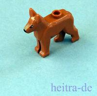 LEGO - Hund Polizeihund dunkelorange/ Alsatian Shepherd / 92586pb02 NEUWARE (a7)