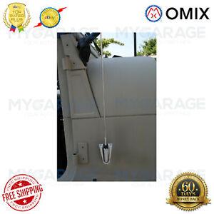 Omix-ADA 17214.01 Chrome Antenna Kit for 76-95 Jeep CJ5 CJ7 CJ8 Wrangler YJ