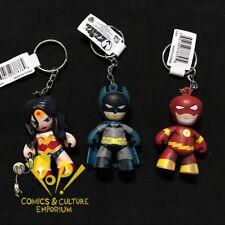 DC COMICS Mez-Itz KEYCHAIN Set BATMAN The Flash WONDER WOMAN Mini Figures MEZCO!