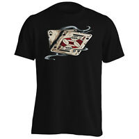 Poker Cards Casino Novelty Vintage Art Men's T-Shirt/Tank Top n39m