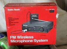 Radio Shack Fm Wireless Microphone System 32-1221B lIn Original Box