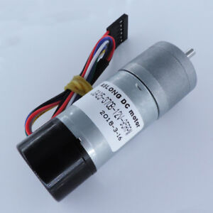JGA25-370GB 12V Metal Gearbox Speed Reduction Gear Motor with Encoder Code Disk