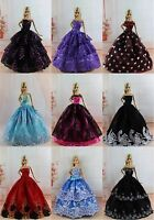 15 items= 5 Princes Dress/Wedding Clothes/Gown+10 shoes For Barbie Doll Clothes