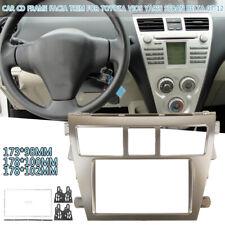 2 DIN Stereo Car Radio Frame Fascia Panel Trim For Toyota Vios Yaris Sedan Belta