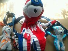 Londres 2012 oiympic memorabila-unionjack Mochila, Wenlock & Mandeville Soft Toys