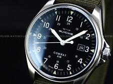 Glycine Men Combat Vintage Automatic Sapphire SWISS MADE Nylon Stp Watch GL0122