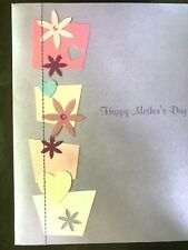 Papyrus Mother's Day card Beautiful Cut-Out Flowers & Flowerpots Glitter Hearts