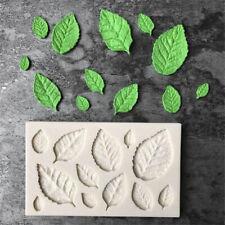Rose Leaves Embellisment Silicone Fondant Mould Cake DIY Decor Chocolate Mold