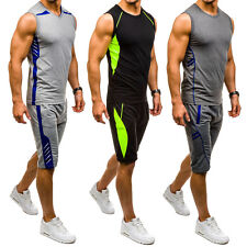 BOLF Herren Trainingsanzug Jogginganzug Sporthose Shorts TankTop Mix 8H8 T-Shirt