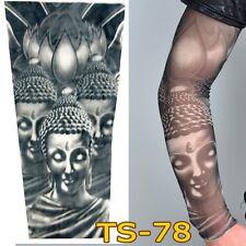 Buda resbalón en brazo falso media Elástica Mangas De Tatuaje temporal Tribal Para Hombre