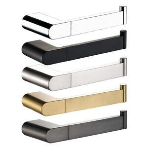 Chrome Black Brushed Nickel Gold Gunmetal Toilet Paper Roll Holder Wall Mounted