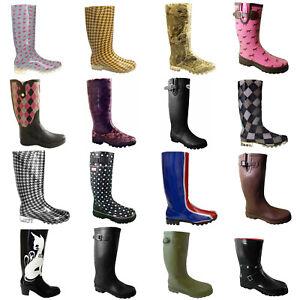 Ladies Girls Wellies Boots Womens Size 3 4 5 6 7  Outdoor Winter Rain Festival