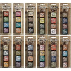 """Tim Holtz Distress Ink Mini Kits 1"""" x 1""""  PACK ink pads - KITS 1 - 16 available"""