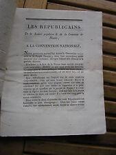 Les républicains de la société populaire & de NANTES à la Convention Nationale