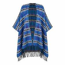 Ladies Blue Wrap Shawl Pashmina Top Clothing Blue Warm Poncho