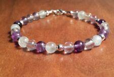 Handmade Rainbow Fluorite  Healing Stone Bracelet
