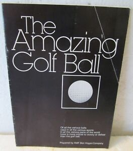THE AMAZING GOLF BALL BY AMF BEN HOGAN CO.  1978  WRAPPERS  16 PGS + COVERS