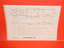 1962 1963 STUDEBAKER GRAND TURISMO HAWK GT HARDTOP COUPE FRAME DIMENSION CHART