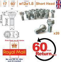 Short Head Bolts for Car Wheel Spacer Adapter M12x1.5 21mm thread VW x 20