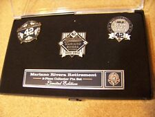Mariano Rivera Retirement NY New York Yankees lapel pin set 3 pins