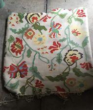 KILIM Rug Pillows big Squares Bright Colors Orange Green Yellow  TWO Home Decor
